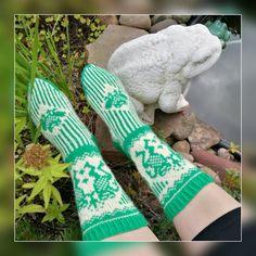 Kirjoneulesukat sammakkosukat fair isle knitting