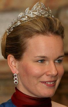Wreath Tiara worn by Princess Mathilde of Belgium