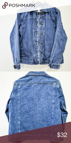 Oversized Denim Topper 100% Non Smoking & Pet Free Home.   Top 5% & ⭐⭐⭐⭐⭐ Seller. Shop with confidence :)  Feel free to like, follow, and share. Open to offers. Thanks for the love.  Not Levi's, listed for exposure   NEW Talbots Trusty Oversized Topper/ Modern Classic/ SUPERSOFT/ All Season Wear/ Authentic Dark Denim Wash/ Six Front Closure/ Side Seam Pockets/ Long Cuff Sleeves/ Machine wash/ Never worn Levi's Jackets & Coats Jean Jackets