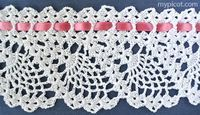 Crochet Lace Edging Pattern Hooks 19 Ideas For 2019 Crochet Edging Patterns, Crochet Lace Edging, Crochet Motifs, Crochet Borders, Crochet Trim, Crochet Designs, Simple Crochet, Stitch Patterns, Picot Crochet