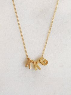 Kappa Kappa Gamma Sorority Necklace // Elizabeth Volk Design