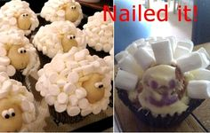 haha! nail, hilarious memes, funny pictures, funni, food fails, lamb, demon, easter cupcakes, expectation vs reality