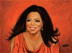 """Oprah"" Crayola Crayon portrait by Don Marco."