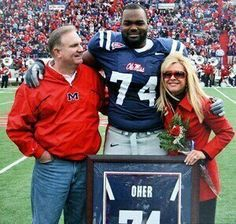 Michael with his proud parents Sean and Leigh Ann Touhy at Ole Miss. This is such a strong, fascinating and amazing woman. I love this woman!