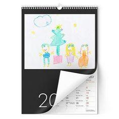 Lahjaidea joululahja kalenteri muistaminen lasten piirustus