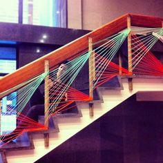 yarn bombing is awesome Scale Art, Wool Art, Yarn Bombing, School Decorations, Staircase Design, Art Model, Sustainable Design, Light Art, String Art