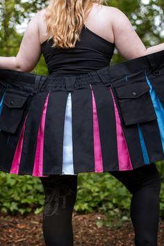 Versatta Bi Pride Hybrid Kilt - Verillas Cute Fashion, Mens Fashion, Street Fashion, Modern Kilts, Lesbian Pride, Creative People, Transgender, Lgbt, Mini Skirts