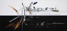Zaha Hadid, Serpentine Sackler Gallery From Zaha Hadid's series 'Visions for Madrid, Spain', 1992