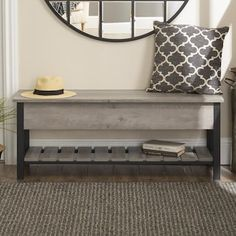 Small Entryway Bench, Small Mudroom Ideas, Foyer Bench, Bench Decor, Entryway Stairs, Bed Bench Storage, Storage Bench With Baskets, Diy Entryway Storage Bench, Farmhouse Bedroom Benches