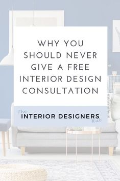 I see a lot of new interior designers thinking that they should give away free consultations. But it's such a big mistake. Huge mistake.   Click through to read why.   #interiordesign #interiorlovers #interiordesigner  #studyinteriordesign #homeinterioruk #interiordesignstudents #interiordesigneruk #interiordesignersuk #studyinteriordesign#marketing #branding #pricing #businessadvice #interiordesigncoach #socialmediamarketing