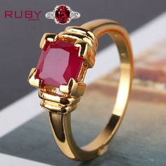 Designer Ruby stone ring well suited for men's wearing