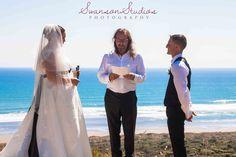 Swanson Studios Bethels Beach Wedding, Celebrant Ewan Gilmore