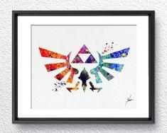 Legend of Zelda Modern Hyrule Link Watercolor por PainterlyDots