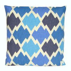 Items similar to Ikat Cushion Cover 16 x 16 Pillow Cover 16 Inch Ikat  Pillow Sham - Ikat Trellis Blue on Etsy 70397893bc8