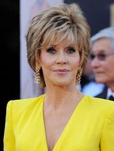 Jane Fonda Layered Razor Cut - Layered Razor Cut Lookbook - StyleBistro