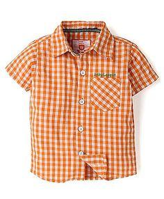 Baby League Half Sleeves Check Shirt - Orange http://www.firstcry.com/baby-league/baby-league-half-sleeves-check-shirt-orange/663717/product-detail