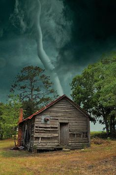 "lifeissuchabeach:  ""the photographer commented that she rode the tornado out in a ditch that was close, and that most of the building was left standing, but the tin roof was probably in the next county. She didn't say where this was taken…  """
