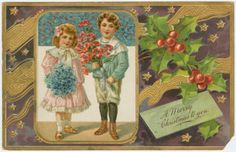 Image ID: 1586568 #1 Mid-Manhattan Library / Picture Collection  A merry Christmas to you. (190-)   H. G. Zimmerman & Co. -- Publisher   Gold metallic accents.