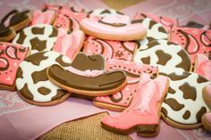 Cowgirl Cookies by Katie's Creative Baking #cowgirlcookies #cookies #cowgirltheme