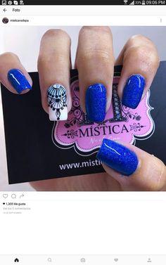 Unas Bling Nails, Red Nails, Boutique Nails, The Art Of Nails, Purple Nail Art, Square Acrylic Nails, Bright Nails, Stylish Nails, Nail Arts