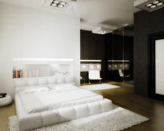 3D Bedroom Architecture Render.