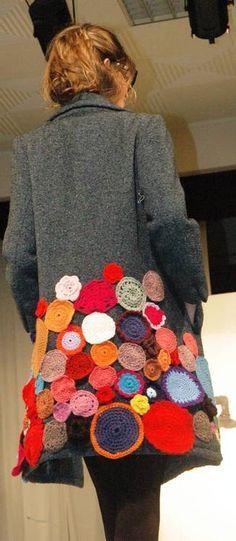 e313ce08f6d Image result for winter coat crochet embellishments Crochet Granny