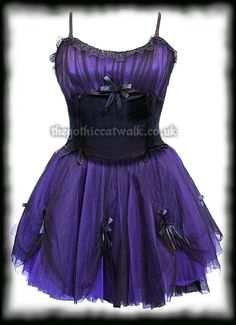 Purple & Black Net Tutu Dress with Roses http://www.thegothiccatwalk.co.uk/purple-black-tutu-dress-with-roses-p-2051.html