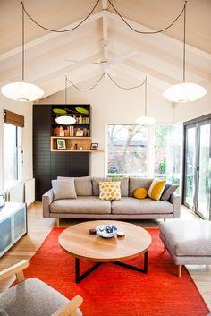 living room | George Nelson Saucer Criss Cross Bubble Lamp Pendants | http://modernica.net/saucer-cc-lamp.html