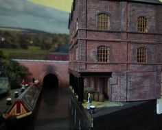 A great canal & factory scene #modelrailway More photos at https://www.facebook.com/ModelRailwayScenery