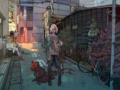 SHIBUYA - A gallery-quality illustration art print by Jakub Rebelka for sale.