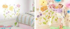 Fairy Garden - un sticker cu flori colorate, care lumineaza si inveseleste incaperea intr-o secunda!  #stickerflower Toddler Bed, Furniture, Design, Home Decor, Child Bed, Decoration Home, Room Decor, Home Furnishings
