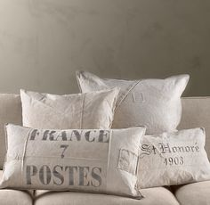France Post Large Lumbar Tarp Pillow | Pillows | Restoration Hardware
