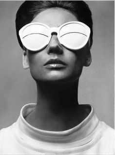 the iconic image of these André Courrèges glasses from the 60s