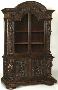 Antique Italian Renaissance Bookcase, #Italian #antique #furniture