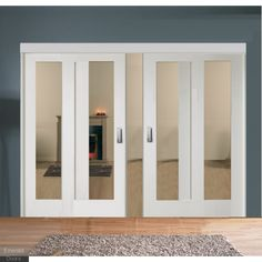 Buy Sliding French Doors with White Pattern 10 Clear Glazed Doors Interior Sliding French Doors, White Interior Doors, Custom Interior Doors, Wooden Sliding Doors, Internal Sliding Doors, Interior Trim, Fabric Room Dividers, Decorative Room Dividers, Sliding Room Dividers
