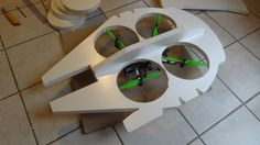 Finally! A Real RC Millennium Falcon Drone That Makes Point Five Past Lightspeed! -  #drones #geek #starwars