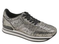050f2e2edd Hogan low top women's gold leather sneakers shoes - Italian Boutique €224