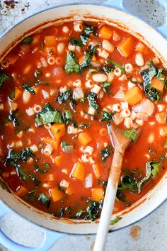 Winter Vegetable Minestrone Soup | www.floatingkitchen.net