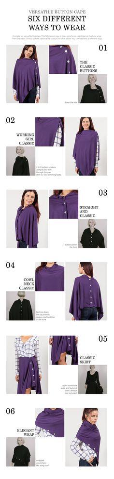 How to wear OBR NZ Merino - 6 ways. #fashion #style #merino #cape