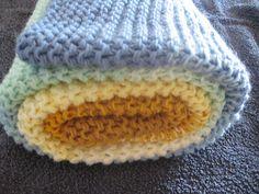 Ravelry: zanobb's Multicolor garter baby blanket