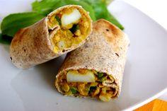 Vegan Potato Curry Wraps