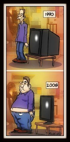 #chiste... Evolución de la TV ..Too Real