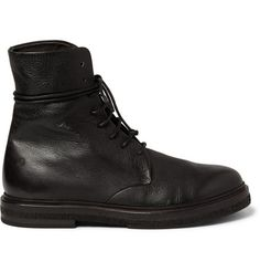 Marsell Full-Grain Leather Lace-Up Boots | MR PORTER
