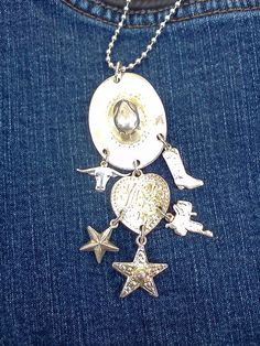 Vintage Charm Necklace Cowgirl Western by WeeLambieVintage on Etsy