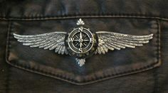 LARGE Steampunk Airship Oak and Compass Wings - Airship Pilot / Explorer / Adventurer. $25.00, via Etsy.