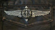 LARGE Steampunk Airship Oak and Compass Wings - Airship Pilot / Explorer / Adventurer. $25.00, via Etsy.