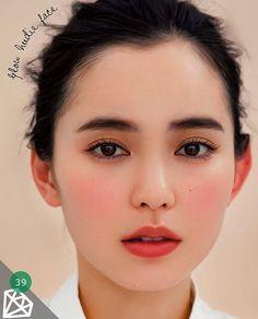 Asian makeup natural, asian beauty, japanese makeup, japanese eyebrows, c. Make Up Looks, Japanese Makeup, Korean Makeup, Korean Skincare, Asian Makeup Monolid, Japanese Eyebrows, Natural Blush, Natural Makeup, Natural Beauty