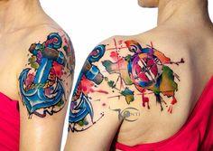 watercolor tattoo Gdansk