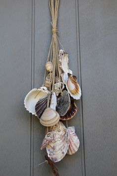 Suspension pour déco en coquillages divers et bois flotté. : Accessoires de maison par dec-au-naturel