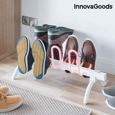 InnovaGoods InnovaGoods Electric Shoe Drying Rack White You can now dry your footwear more quickly and easily thanks to the new InnovaGoods Home Housewa.